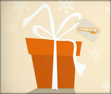 Scarta il tuo regalo di natale di webnode