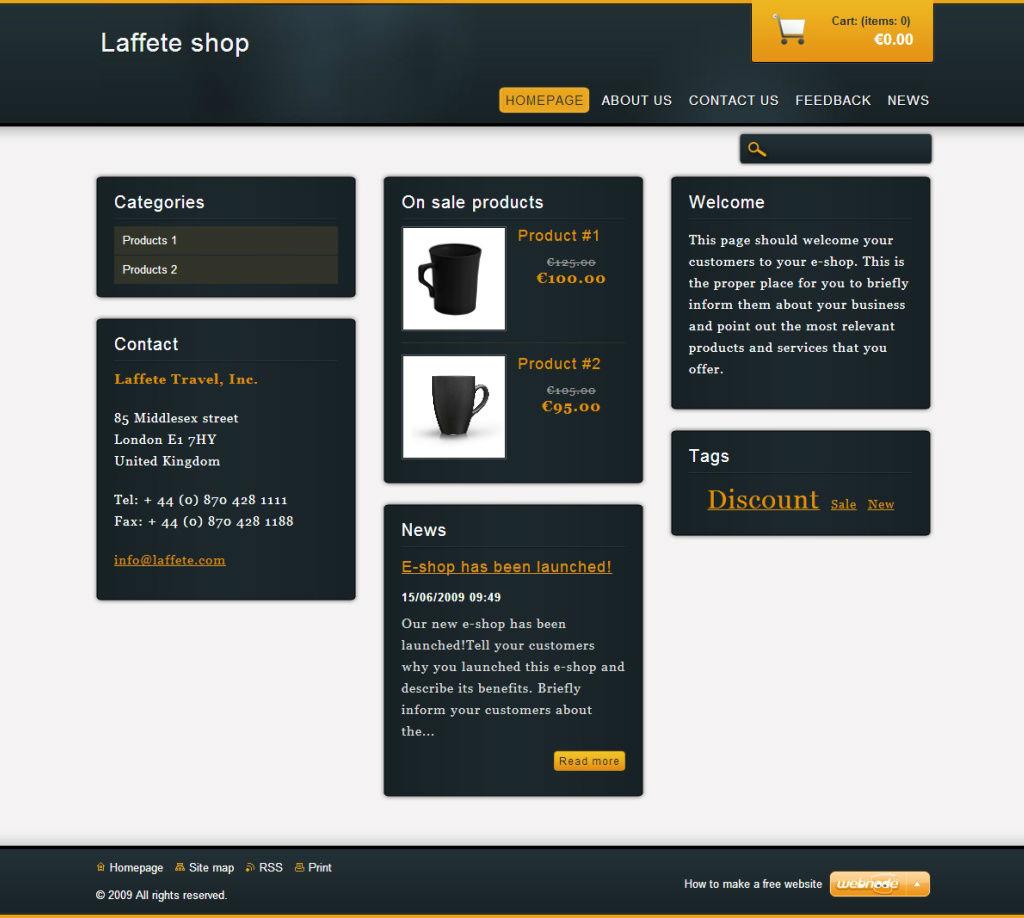 Nov ablony webnode sv minimalismus pro v eshop for Minimalismus blog