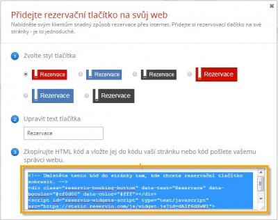 Online rezervační systém Reservio