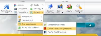 Online rezervační formulář Reservio