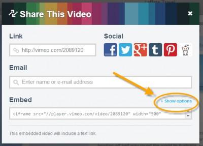 Jak zvětšit videa Vimeo