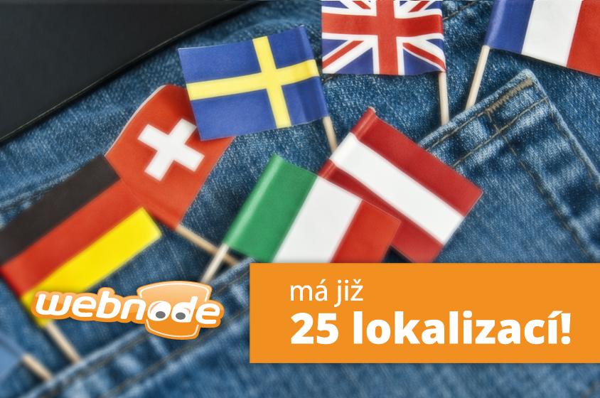 Webnode mluví 25 jazyky!