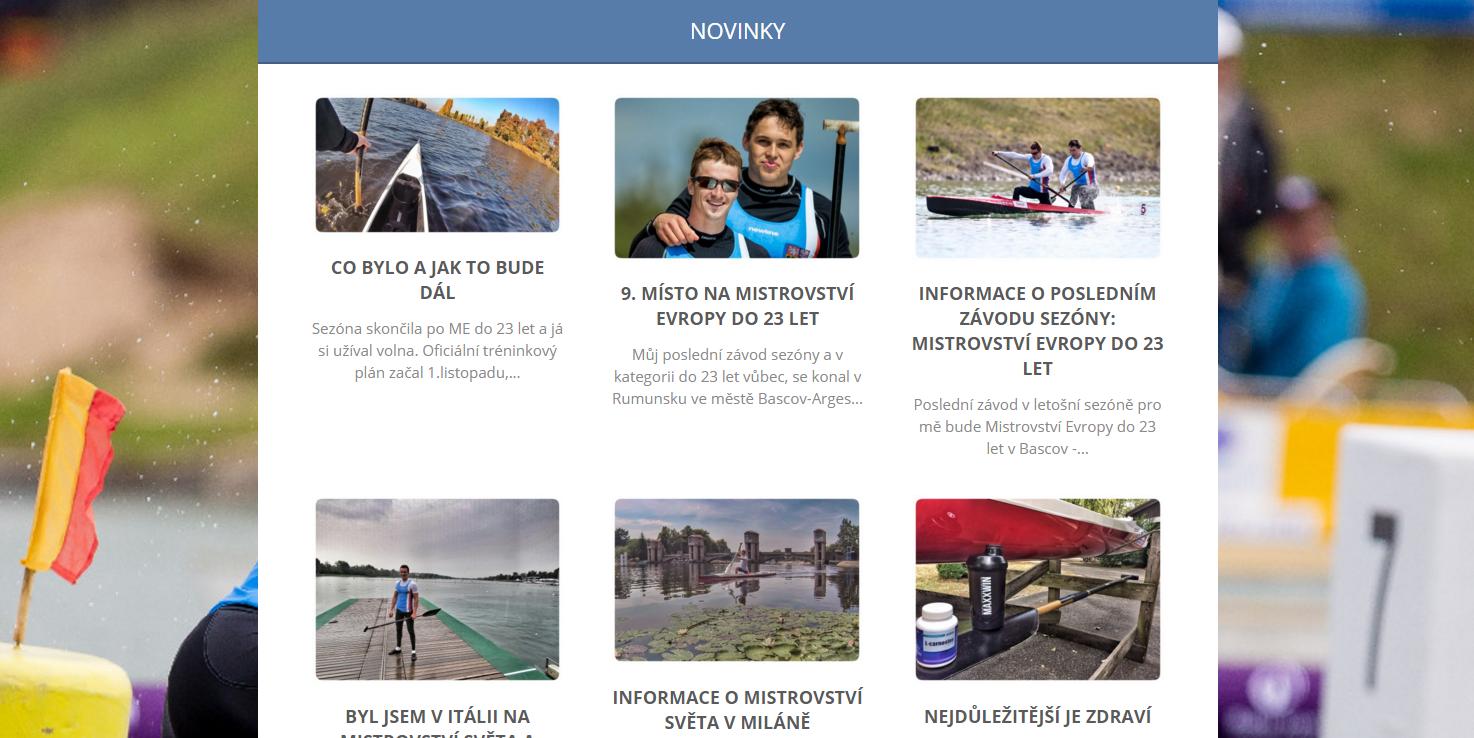 Webové stránky sportovce Vojtěcha Ruso