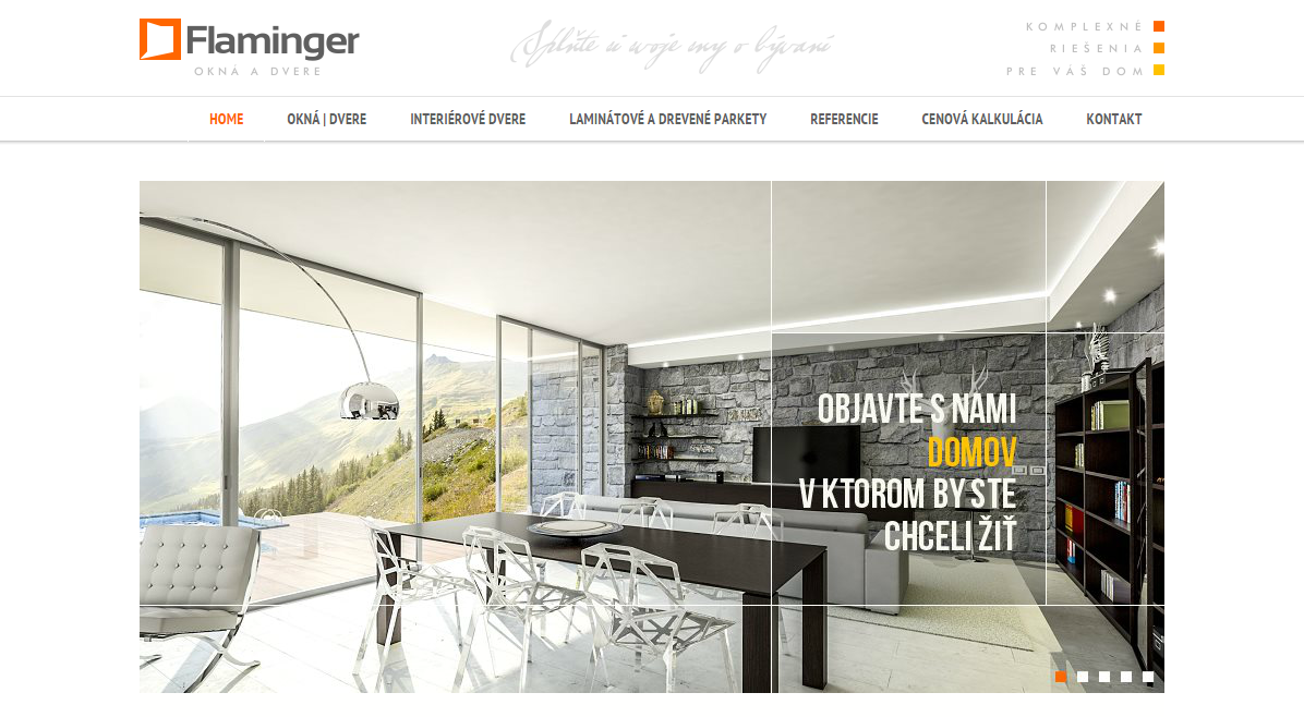 Webové stránky firmy Flaminger