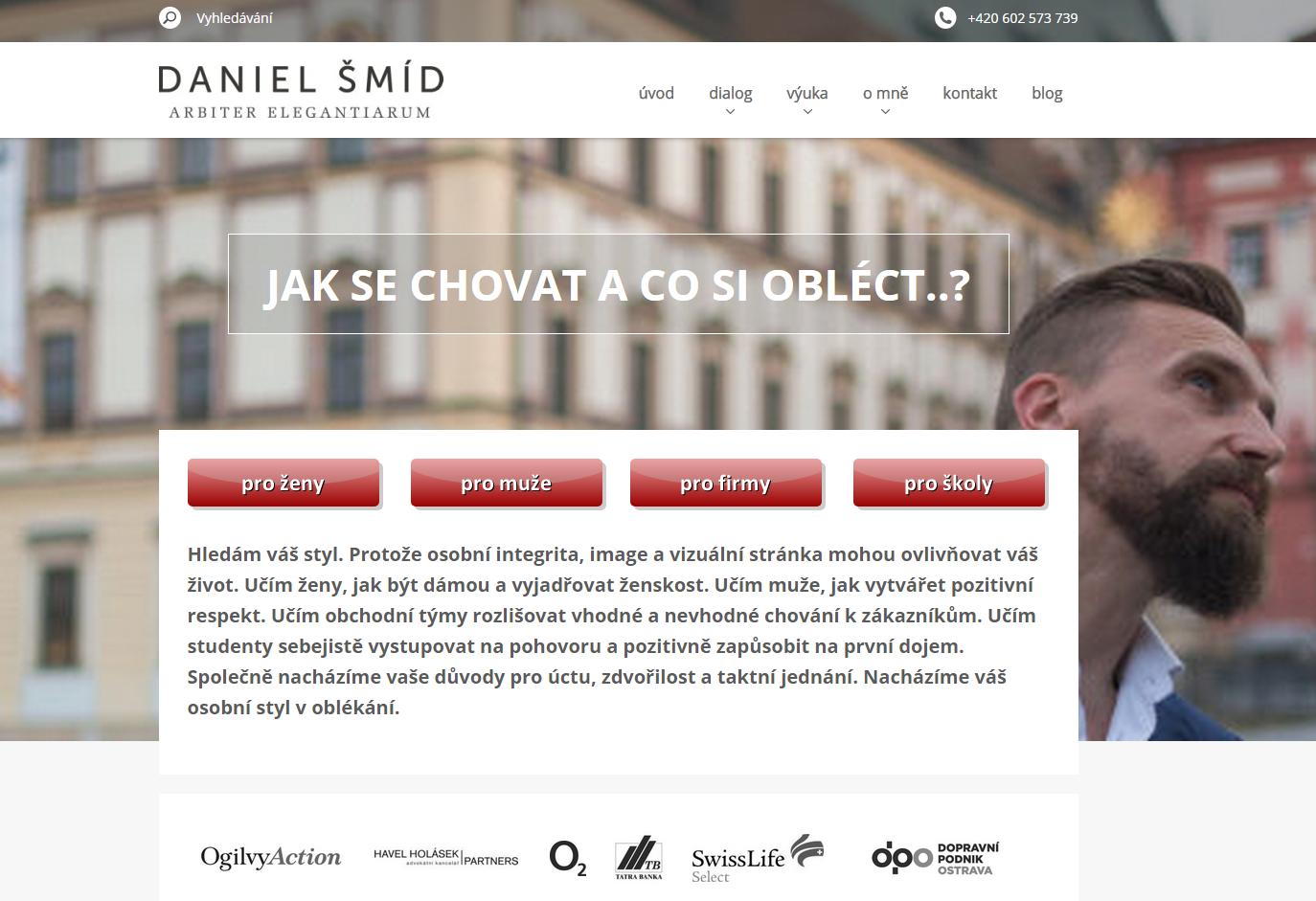 Úspěšný web danielsmid.cz