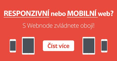 Responzivní nebo mobilní web s Webnode