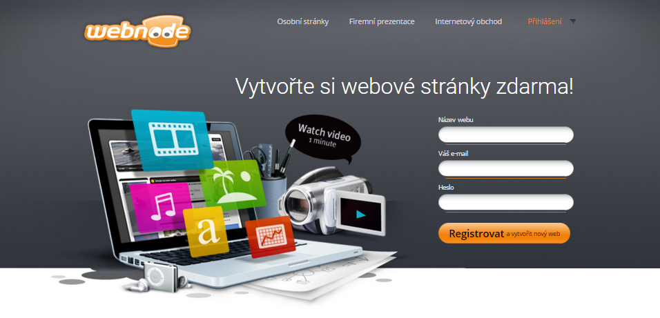 Nástroj na tvorbu www stránek - Webnode
