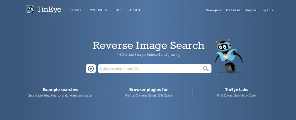 Zkontrolovat původ obrázků zdarma můžete pomocí vyhledávače Tineye